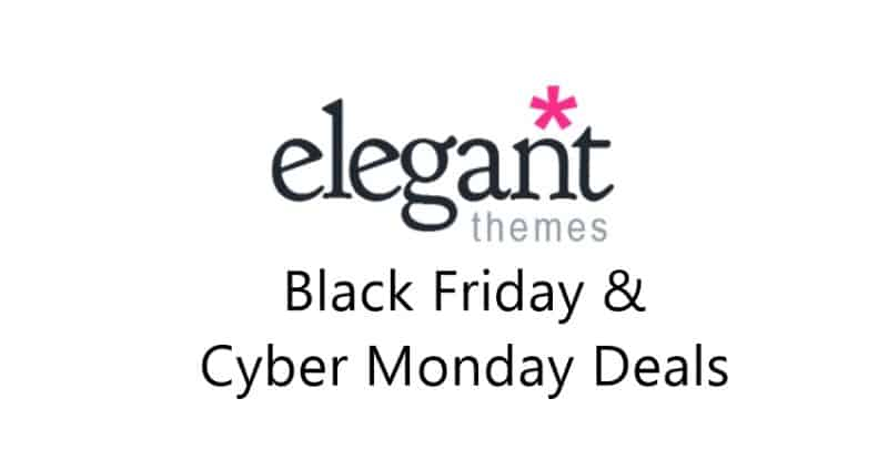 best hosting deals for black friday Elegant Themes Black Friday Sale