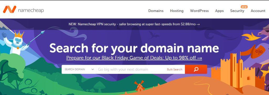 best hosting deals for black friday NameCheap Black Friday Sale