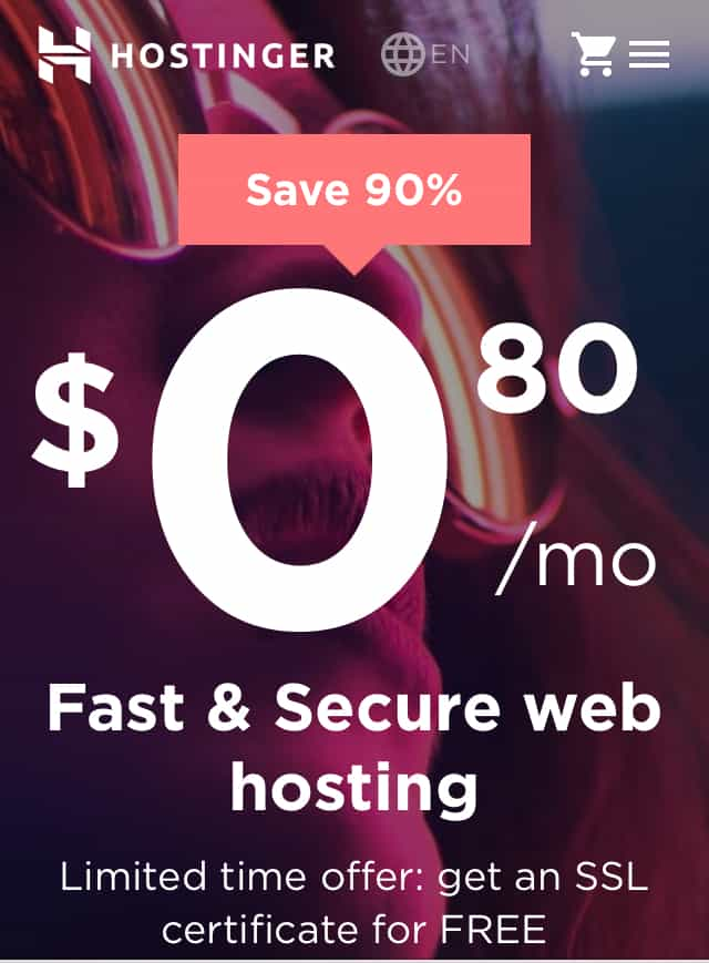 How to start a blog with hostinger sale cheap web hosting